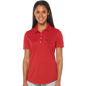 C8 Corvette Next Generation Ladies Callaway Dry Core Polo : Red