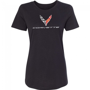 C8 Next Generation Corvette Ladies Performance Tee : Black