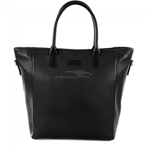 Next Generation Corvette Leather Crossbody Tote : Black.