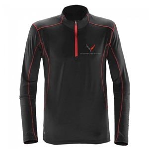 Next Generation Corvette Stingray Quarter-Zip Fleece : Black.
