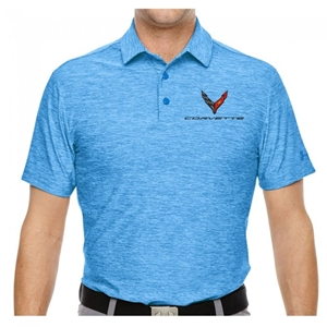 Corvette Next Generation Under Armour Polo :  Blue Heather.