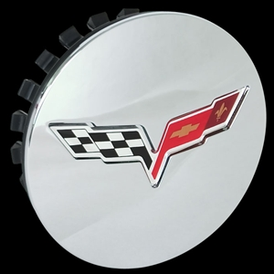 C6 Corvette GM Wheel Center Cap Chrome with C6 Logo : C6, ZR1