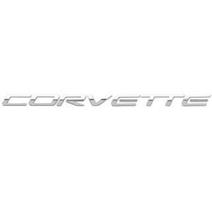 Corvette '97-'04 Mirror Finish Front License Letters