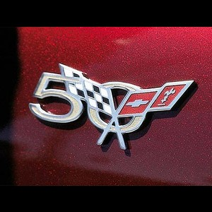 Corvette 50th Anniversary Fender Badge GM : 2003 C5 & Z06