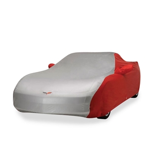 Corvette Car Cover - Two Tone C6 Embroidered Logo : 2005-2013 C6, Z06, ZR1 & Grand Sport