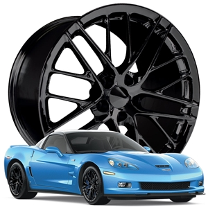 Corvette Wheel - 2009 ZR1 Style Reproduction : Gloss Black