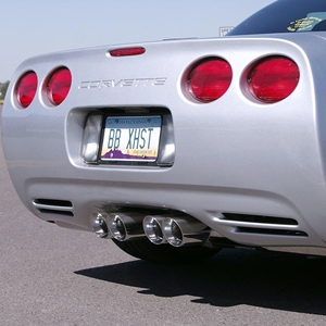 Corvette '97-'04 Tri-Flow Muffler System ( Route 66 - Round Tips