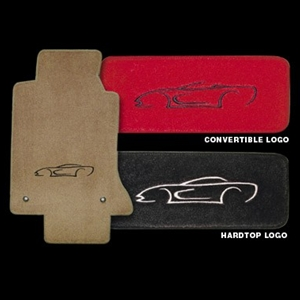 Corvette Floor Mats - Convertible Art Logo : 98-04 C5