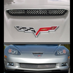 Corvette RaceMesh Air Intake Nose Scoop Grille : 2006-2013 Z06