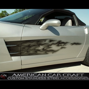 Corvette Custom Air Brushed Side Flame Graphics : 2005-2013 C6, Z06, ZR1 & Grand Sport