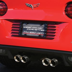 Corvette License Plate Frame - Altec Louvered Custom Painted : 2005-2013 C6, Z06, ZR1, Grand Sport