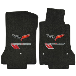 C6 Grand Sport Corvette Floor Mats - Double Logo : 2010-2013 Grand Sport