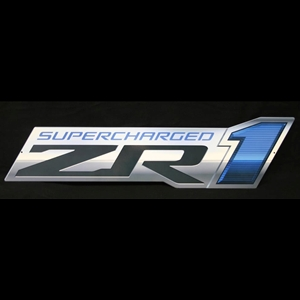 "Corvette ZR1 Supercharged Emblem Wall Sign 34"" : 2009-2013 ZR1"