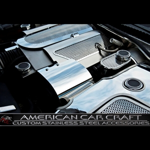 Corvette Alternator Cover - Polished Stainless Steel : 1997-2004 C5 & Z06