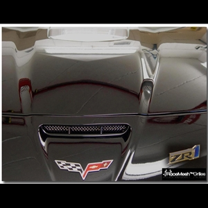 Corvette RaceMesh Air Intake Nose Scoop Grille : C6 ZR1