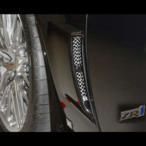 Corvette RaceMesh Rear Brake Duct Grilles : C6 ZR1