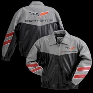 Corvette Grand Sport Leather Jacket - Grey