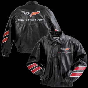 Corvette Grand Sport Leather Jacket - Black : 2010-2013 GS