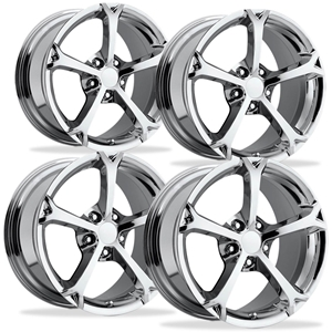 Corvette Wheel - 2010 Grand Sport Style Reproduction (Set) - Chrome : 1997-2013 C5,C6,Z06,Grand Sport