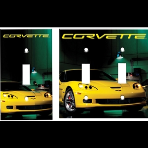 Corvette Light Switch Plate Covers with Z06 Image : 2006-2013