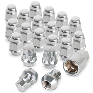 Corvette Lug Nuts and Wheel Locks - Chrome (Set) : 1997-2016 C5,C6,C7,Z06,ZR1,Grand Sport