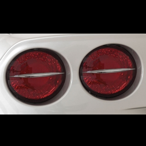 Corvette Taillight Spears 4 Pc. Billet Chrome : 2005-2013 C6 all