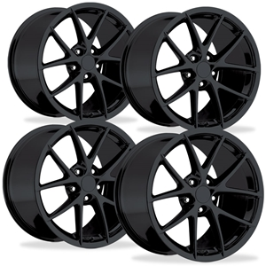 Corvette Wheels - 2009 C6Z06 Spyder Style Reproductions (Set) : Gloss Black