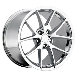 Corvette Wheels - 2009 C6Z06 Spyder Style Reproduction : Chrome C4 C5 C6 Z06 Grand Sport