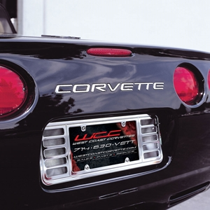 Corvette License Plate Frame - Billet Chrome : 1997-2004 C5 & Z06