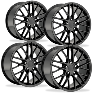 Corvette Wheel - 2009 ZR1 Style Reproduction (Set): Gloss Black