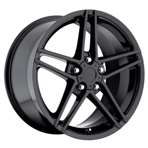Corvette 2006 Z06 Gloss Black Reproduction Wheels for C5 C6 Z06