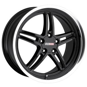 Corvette Wheels - Cray Scorpion : Black with Machined Lip