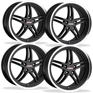 Corvette Wheels - Cray Scorpion (Set) : Black with Machined Lip
