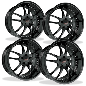 Corvette Custom Wheels - WCC 947 EXT Forged Series (Set) : Black