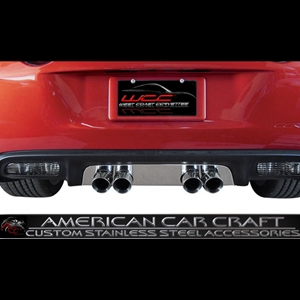 "Corvette Exhaust Port Filler Panel - Polished Stainless Steel for Corsa 3.5"" Quad Exhaust : 2005-2013 C6"