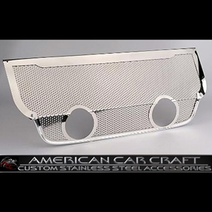 "Corvette Exhaust Port Filler Panel - Perforated Stainless Steel for Corsa 4.0"" Dual Exhaust : 2006-2013 Z06"