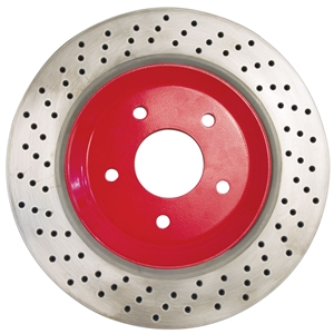 Corvette Brake Rotor Hub Covers - Red (Set) : 2005-2013 C6 Z51