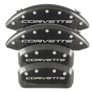 Corvette Brake Caliper Cover Set (4) - Carbon Fiber Look : 1997-2004 C5 & Z06
