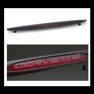 Corvette Third Brake Light Decal - Etched Glass Look : 2005-2013 C6,Z06,ZR1,Grand Sport