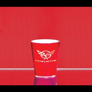 Corvette Shot Glass - 1.5 oz. VIP Ceramic - Red : 1997-2004
