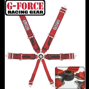 Corvette Shoulder Harness Cam Lock G-Force Racing - 6 Point : Red