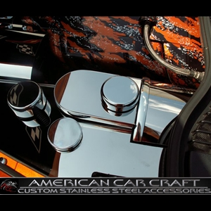 Corvette Brake Booster Cover - Polished Stainless Steel : 2008-2013 C6, Z06, Grand Sport