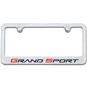 Corvette License Plate Frame - Chrome : 2010-2013 Grand Sport