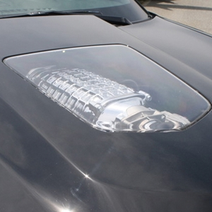 Corvette ZR1 Hood Replica Polycarbonate Window Insert only : 2005-2013 C6, Z06, ZR1 & Grand Sport