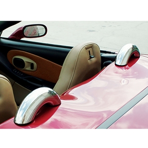 Corvette Convertible Dress-Up Hoops (Set) - Polished Stainless Steel : 1998-2004 C5 Convertible only