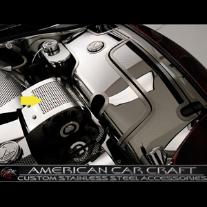 Corvette Alternator Cover - Perforated Stainless Steel : 1997-2004 C5 & Z06