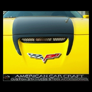 Corvette Hood Vent Grille - Perforated Stainless Steel : 2006-2013 Z06,ZR1,Grand Sport