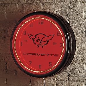 Corvette Clock - Neon Wall Clock