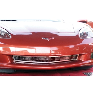 Corvette Front Lower Grille - Laser Mesh Stainless Steel : 2006-2013 C6Z06, GS & ZR1