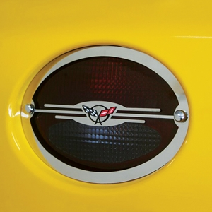 Corvette Taillight Grilles - Executive Style - 4 Pc. Set - Polished Stainless Steel : 1997-2004 C5 & Z06